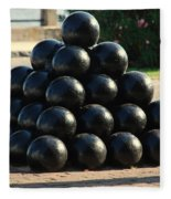 The Cannonballs At The Battery In Charleston Sc Fleece Blanket