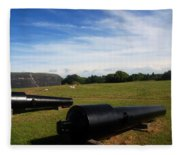 The Cannons At Fort Moultrie In Charleston Fleece Blanket