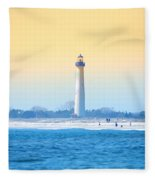 The Cape May Light House Fleece Blanket