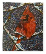 The Cardinal  Fleece Blanket