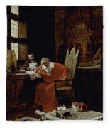 The Cardinal's Leisure  Fleece Blanket