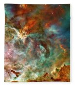 The Carina Nebula Panel Number Three Out Of A Huge Three Panel Set Fleece Blanket