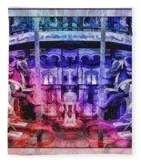 The Carousel Of Alice   Fleece Blanket