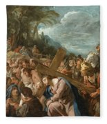The Carrying Of The Cross Fleece Blanket