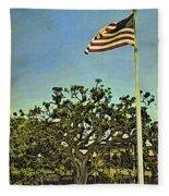 The Casements Flag Flying Fleece Blanket