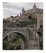 The Castle And The Bridge Fleece Blanket