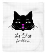 The Cat Says Meow Fleece Blanket