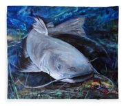 The Catfish And The Crawdad Fleece Blanket