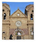 The Cathedral Basilica Of St. Francis Of Assisi, Santa Fe, New M Fleece Blanket