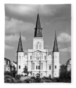 The Cathedral - Bw Fleece Blanket