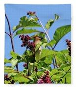 The Cedar In The Lilac Fleece Blanket
