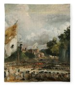The Celebration In East Bergholt Of The Peace Of 1814 Concluded In Paris  Fleece Blanket