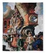 The Ceremony Of The Golden Spike On 10th May Fleece Blanket