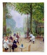 The Chalet Du Cycle In The Bois De Boulogne Fleece Blanket