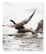 The Chase  Fleece Blanket