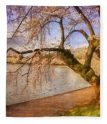 The Cherry Blossom Festival Fleece Blanket