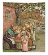 The Cherry Woman Fleece Blanket