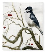 The Chickadee Fleece Blanket