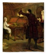 The Child Handel Discovered By His Parents Fleece Blanket