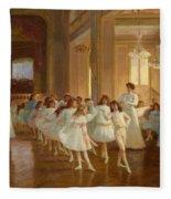The Children's Dance Recital At The Casino De Dieppe Fleece Blanket