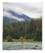 The Chillkoot River 2 Fleece Blanket