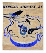 The China Clipper Fleece Blanket