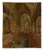 The Choir - Canterbury Cathedral Fleece Blanket