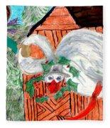 The Christmas Goose Fleece Blanket
