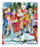 The Christmas Party Fleece Blanket