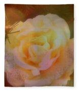The Christmas Rose Fleece Blanket