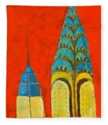 The Chrysler And The Empire State Fleece Blanket