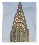The Chrysler At Dusk Fleece Blanket