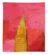 The Chrysler With Red Fleece Blanket