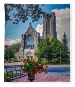 The Church In Summer Fleece Blanket