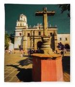 The Church Of San Juan Bautista Of Coyoacan 2  Fleece Blanket