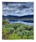 The City And The Clouds Fleece Blanket