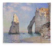 The Cliffs At Etretat Fleece Blanket