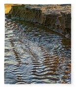 The Cliffs Of Sauble Fleece Blanket
