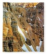 The Climb To Abbot's Hut - Paint Fleece Blanket
