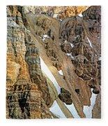 The Climb To Abbot's Hut Fleece Blanket