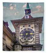 The Clock Of Clocks Fleece Blanket