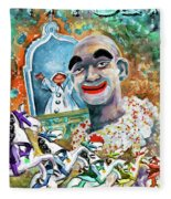 The Clown Of Tivoli Gardens Fleece Blanket