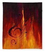 The Color Of Music Fleece Blanket