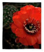 The Color Red Always Makes Smile Fleece Blanket
