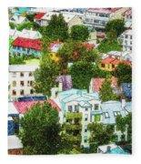 The Colors Of Reykjavik Fleece Blanket