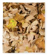 The Colors Of The Leaves In Autumn Fleece Blanket