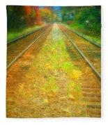 The Colour Along The Tracks Fleece Blanket