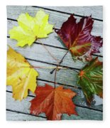 The Colours Of Autumn Fleece Blanket