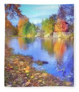 The Colours Of October Fleece Blanket