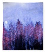 The Colours Of The Moon Fleece Blanket